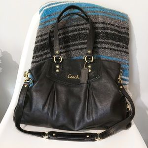 Coach Ashley Large Black Satchel Shoulder Bag